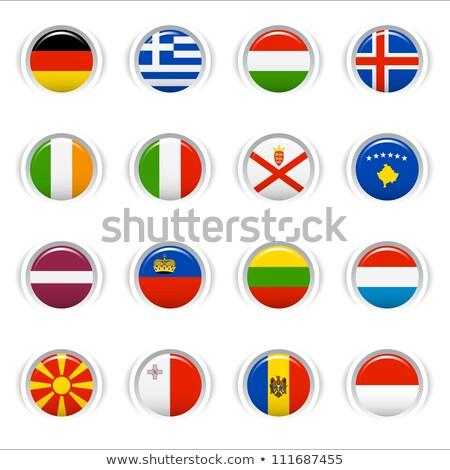 Vlag icon Monaco geïsoleerd witte Stockfoto © mizar_21984
