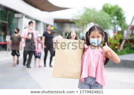 Stock fotó: Ahogy · hüvelykujjak · bevásárlószatyor · internet · háttér · vásárlás