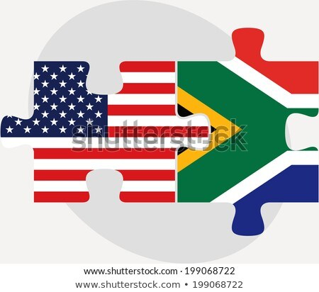 usa and south africa flags in puzzle stock photo © istanbul2009