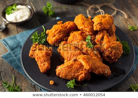 Tavuk kızartma baharatlı sos akşam yemeği et çili Stok fotoğraf © M-studio