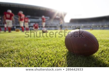 Americano jogo de futebol fora foco jogadores fundo Foto stock © tarczas