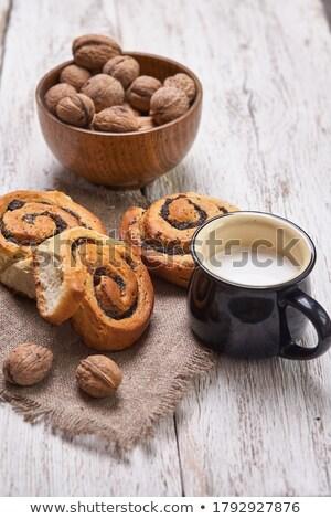Pão branco cerâmico comida Foto stock © yanukit
