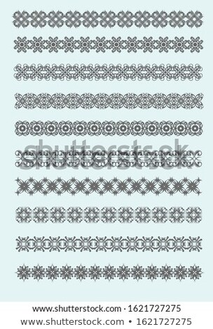 Collection of ornamental rule Lines indifferent design styles Stock photo © leonido