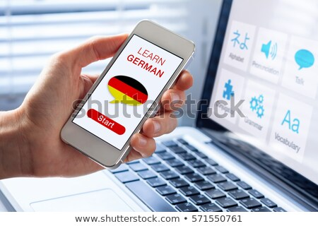 Using technology to learn the german language Stock photo © alexmillos