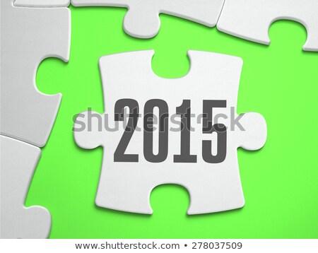 2015 desaparecido peças brilhante verde Foto stock © tashatuvango