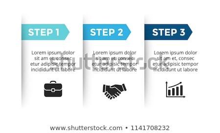 Vector papel progreso tres pasos doblado Foto stock © orson