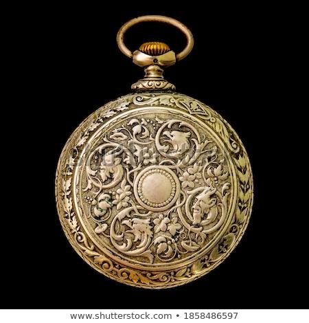 antika · durum · izlemek · gümüş · zincir - stok fotoğraf © hofmeester