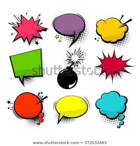 Blank text comic colored speech bubbles in pop art style Stock photo © netkov1