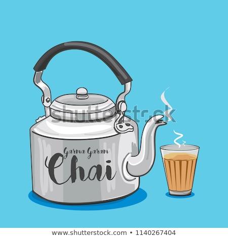 tea time with glass of tea Stock photo © compuinfoto