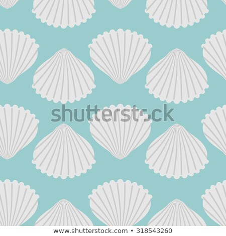 Seamless Texture With The Image Of Seashells Stock foto © MaryValery