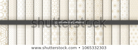 Rounded lines seamless vector pattern. Stock photo © almagami