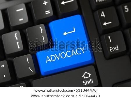 Yasal hizmetleri anahtar 3D mavi Stok fotoğraf © tashatuvango
