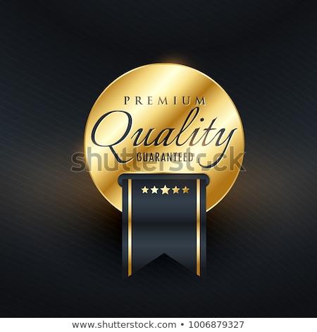 premium quality guarentee golden label design stock photo © sarts