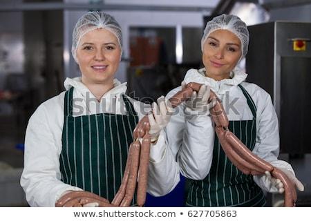 Vlees fabriek lege business gelukkig industrie Stockfoto © wavebreak_media