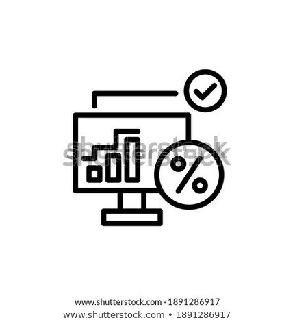 Web Page Design Vector. Business Screen. Internet Traffic. Cartoon Character. Corporate Dividend. Il Stock photo © pikepicture