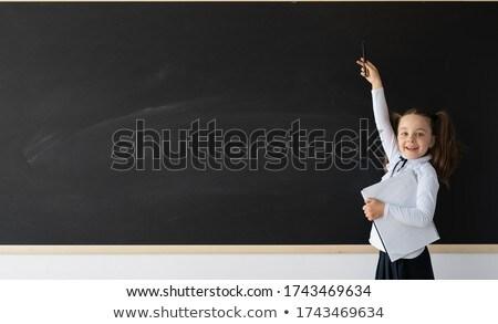 Iskolás lány szett szépség különböző bőrápolás smink Stock fotó © toyotoyo