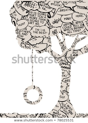 Cartoon tree with a caption balloon. Stock photo © bennerdesign