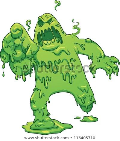 Zangado verde monstro correr eps arquivo Foto stock © chocolatebrandy