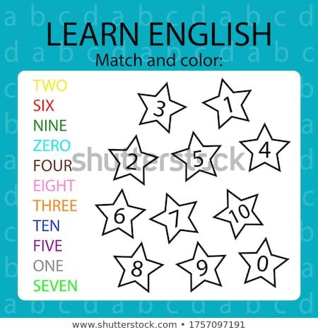 заклинание английский слово четыре иллюстрация школы Сток-фото © bluering