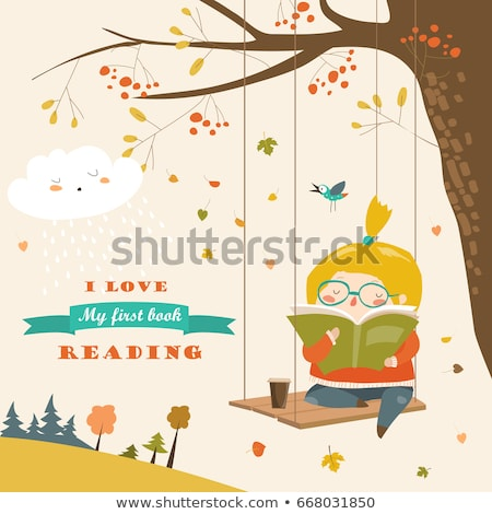 Sweet child in autumnal forest Stock photo © Anna_Om