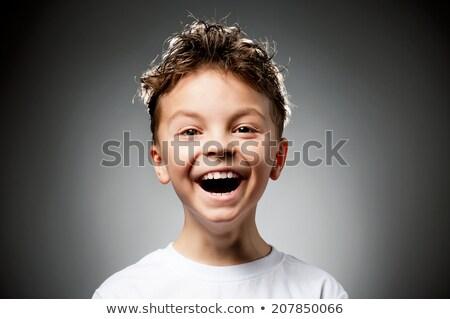mosolyog · fiú · hiányzó · fogak · fiatal · srác · baba - stock fotó © simply