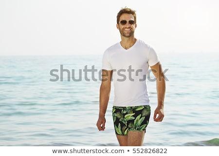красивый Открытый портрет человека пляж солнце Сток-фото © Lopolo