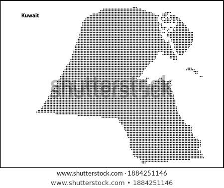 黒 ハーフトーン 六角形 点在 世界地図 地図 ストックフォト © kyryloff