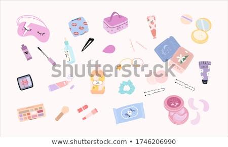 cosmetische · make · collectie · websites · knoppen · tekst - stockfoto © dashadima
