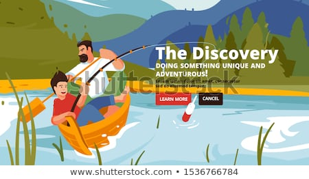 Family Hiking, Mountain Tourism, Outdoor Activity Stock photo © robuart