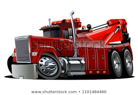 Camion grand grue tracteur isolé Photo stock © bluering