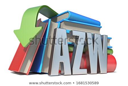 Livre électronique téléchargement 3D rendu 3d illustration isolé Photo stock © djmilic