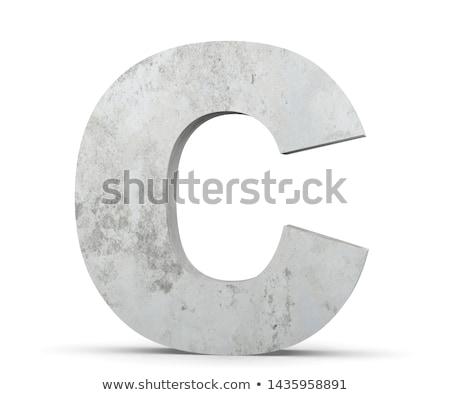 Capital letter C Stock photo © grafvision