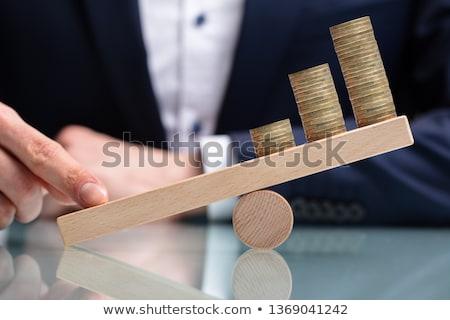 Financeiro riqueza saldo homem fundo justiça Foto stock © AndreyPopov