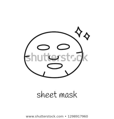 Csillogás tiszta arc maszk ikon skicc Stock fotó © pikepicture