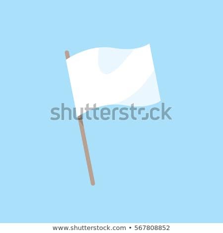Integet narancs zászló fehér felirat hullám Stock fotó © butenkow