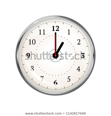 Realistic clock face showing 01-00 on white Stock photo © evgeny89
