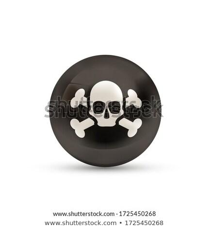 Korsan bayrak kafatası kemikleri parlak küre Stok fotoğraf © evgeny89