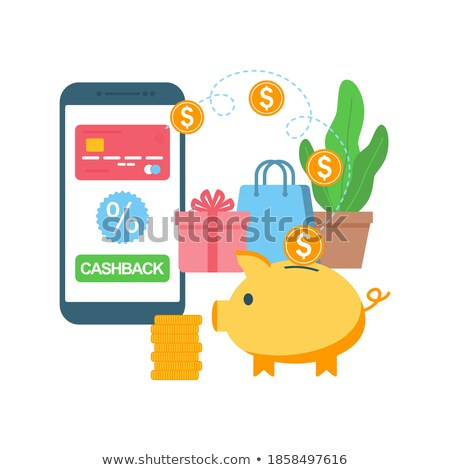 Piggy bank dinheiro moeda compras on-line Foto stock © yupiramos