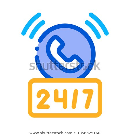 round-the-clock help desk icon vector outline illustration Stock photo © pikepicture