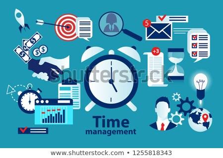 часы Смотреть крайний срок вектора Сток-фото © robuart
