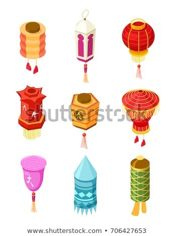 Asian Lantern isometric icon vector illustration Stock photo © pikepicture