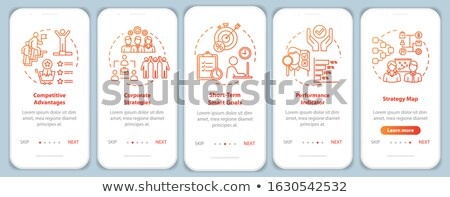 Performance plans and indicators app interface template. Stock photo © RAStudio
