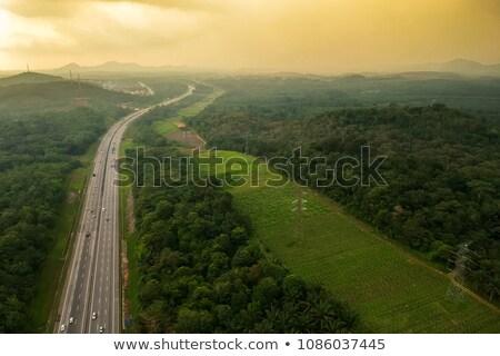 Малайзия шоссе знак зеленый облаке улице знак Сток-фото © kbuntu