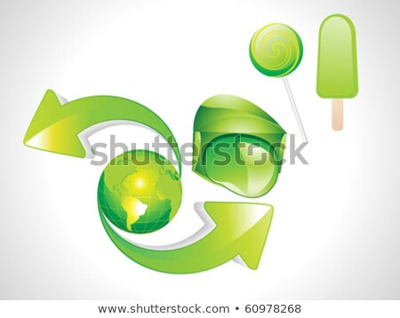 Stock photo: Abstract Eco Ice Candy Earth With Arrow