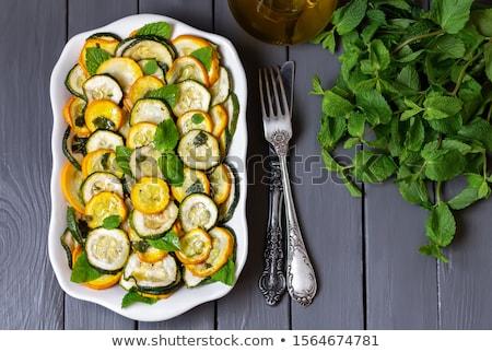 Fried vegetables. Summer squashes. Stock photo © yelenayemchuk
