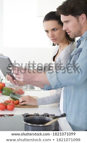 Couple following recipe Stock photo © photography33