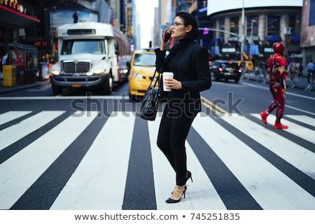 город женщины пешеход силуэта Привлекательная женщина ходьбе Сток-фото © ArenaCreative