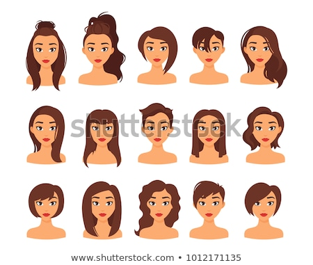 Portrait of young brown-haired girl Stock photo © photography33