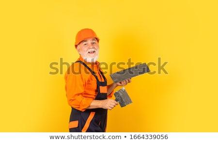 Starszy mason człowiek ściany pracownika Zdjęcia stock © photography33
