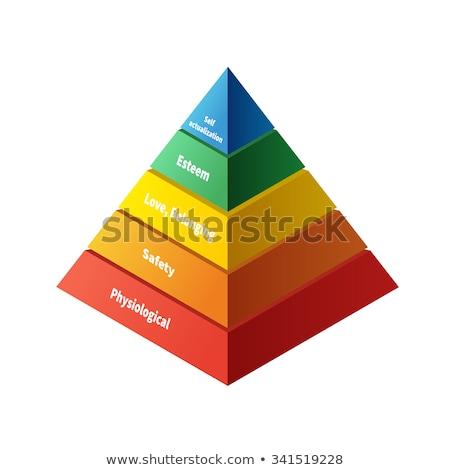 Glanzend kleurrijk piramide witte ontwerp oranje Stockfoto © Quka